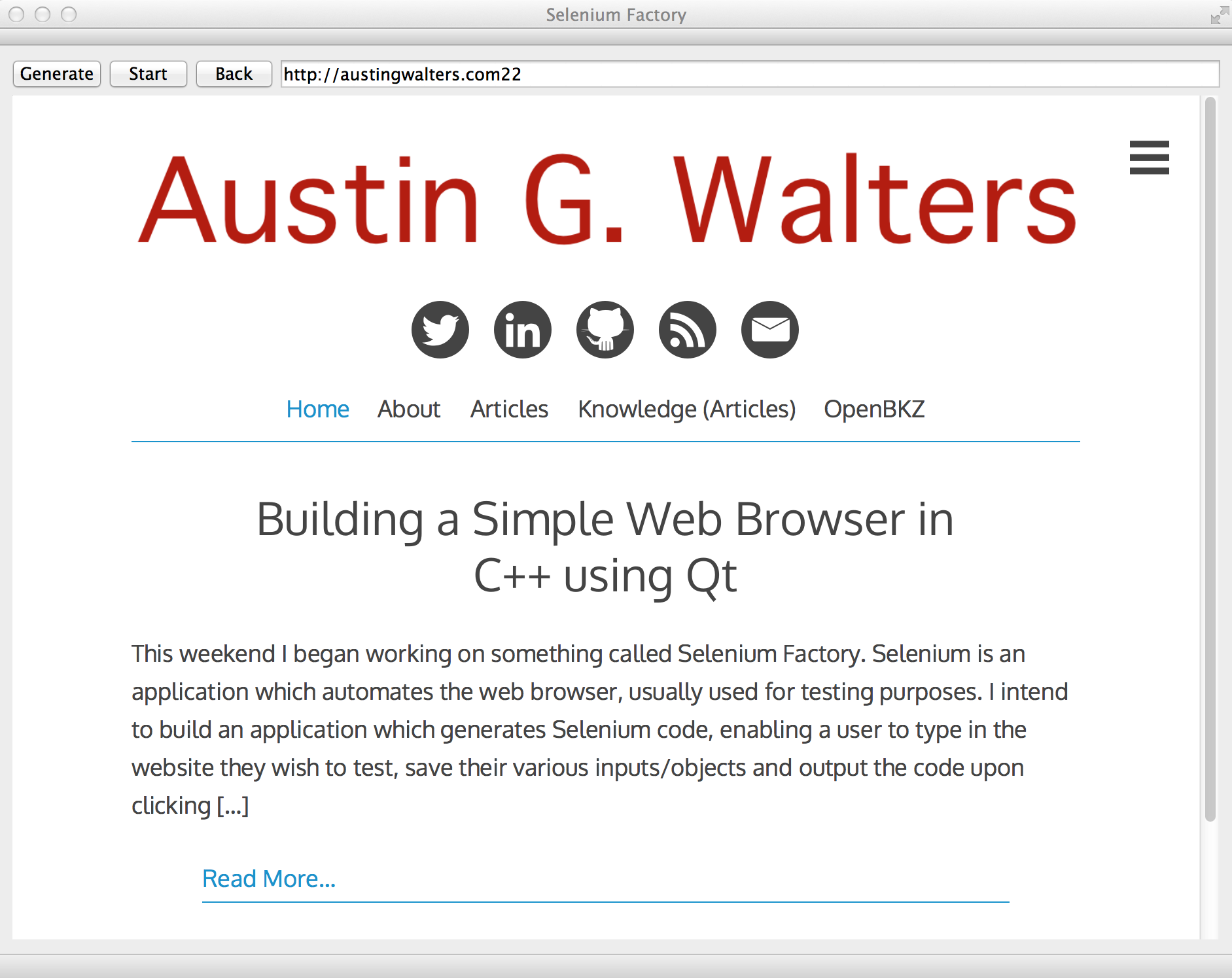 Building a Simple Web Browser in C++ using Qt - Austin G
