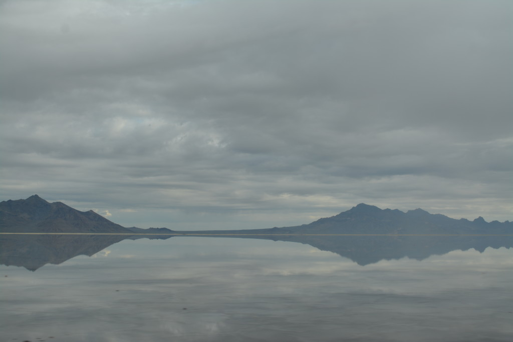 Bonneville Salt Flats (covered in rain water...)